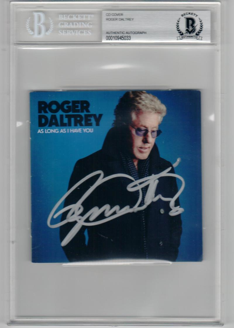 Roger Daltrey The Who signed CD Cover As Long As I Have For You Beckett BAS