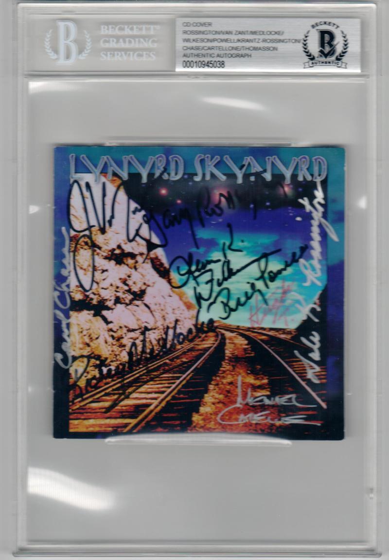 Lynyrd Skynyrd 9x Signed signed CD Edge of Forever BAS Rossington Wilkeson Powell