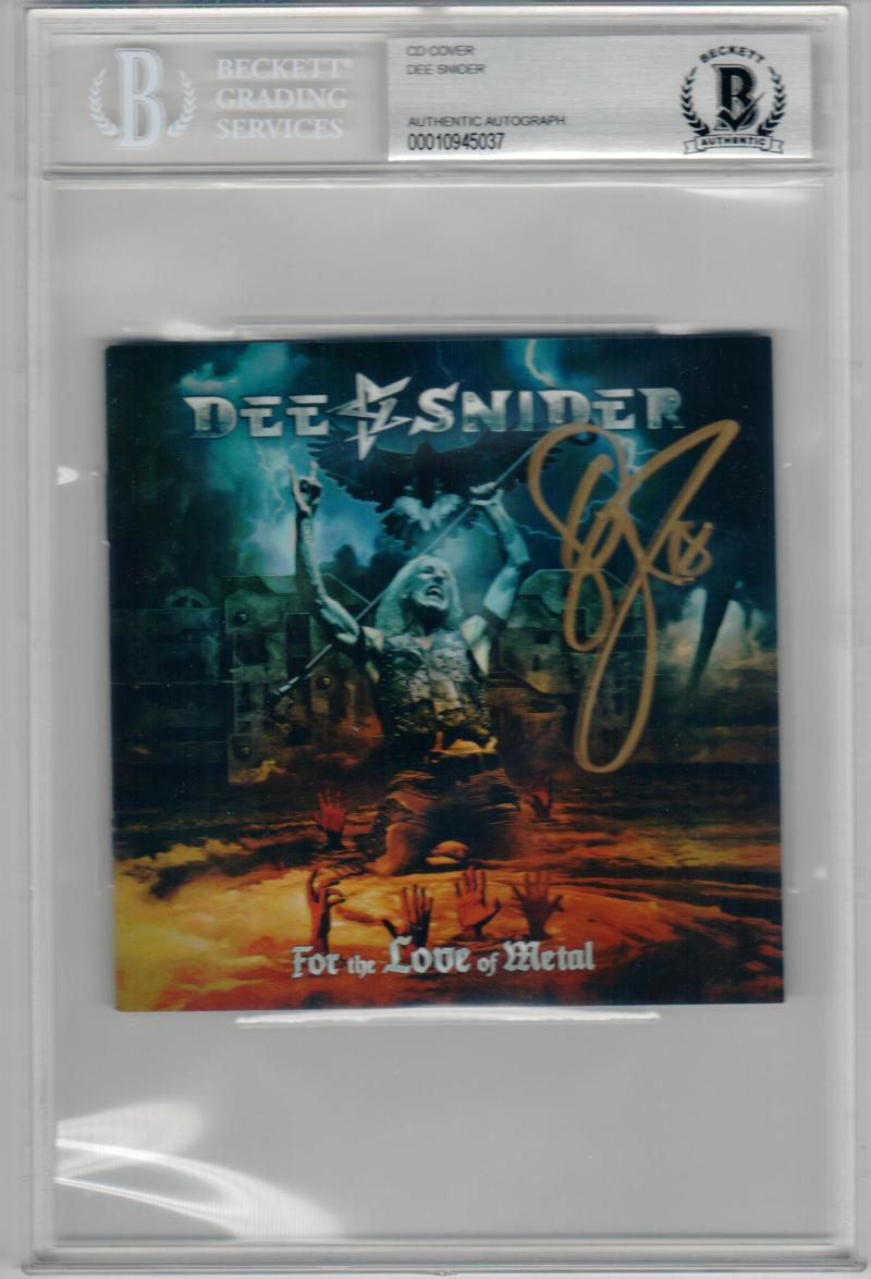 Dee Snider Twisted Sister signed CD Cover For the Love of Metal Beckett BAS