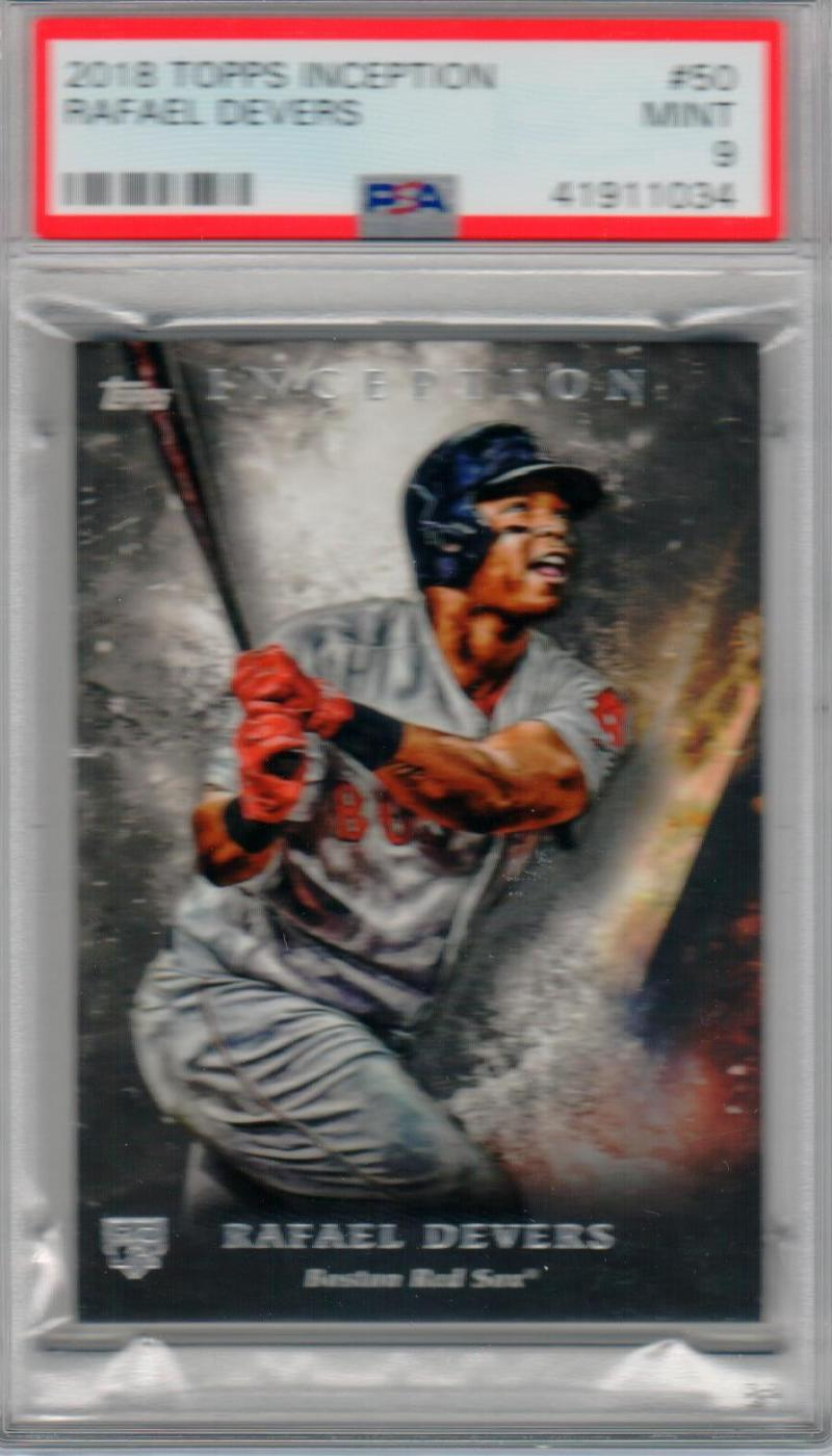 Rafael Devers 2018 Topps Inception Rookie Card RC #61 Red Sox PSA 9