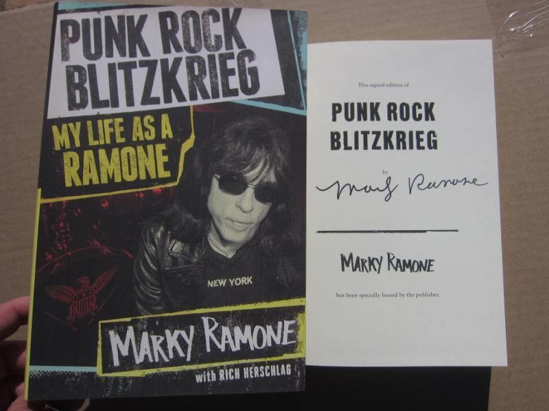 Marky Ramone Signed Autographed Book Punk Rock Blitzkreig My Life As A Ramone