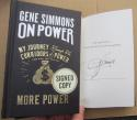 Gene Simmons KISS signed book On Power: My Journey Through the Corridors of Power & How You Can Get More Power
