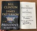 Bill Clinton James Patterson Signed Book The President Is Missing POTUS Beckett BAS COA