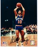 Walt Frazier signed 8x10 Photo Beckett BAS Authentic auto NY Knicks