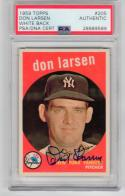Don Larsen Yankees signed 1959 Topps baseball card #205 PSA/DNA Slabbed