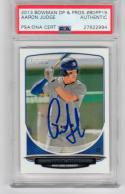 Aaron Judge NY Yankees signed 2013 Bowman Rookie card #19 Draft Picks Prospects BDPP19 PSA/DNA Slab