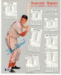 Stan Musial signed 8x10 with Memorable Moments Beckett BAS Authentic auto