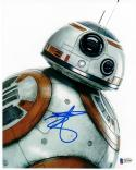 Ben Schwartz signed 8x10 photo Beckett BAS Star Wars Force Awakens BB-8 Parks & Rec