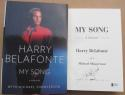 Harry Belafonte signed book My Song: A Memoir Beckett BAS Authenticated