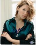 Lea Seydoux signed 8x10 photo James Bond Madeleine Swann Spectre Beckett BAS COA