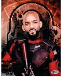 Will Smith signed 8x10 photo Beckett BAS autographed Suicide Squad Deadshot