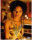 Naomie Harris signed 8x10 photo Beckett BAS Paula Moonlight Moneypenny Skyfall