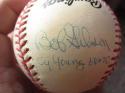 Bob Gibson Jim Lonborg signed Baseball BAS Beckett autograph w Cy Young inscription 1967 World Series