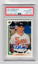 Mike Mussina HOF signed 1991 Upper Deck Rookie baseball card #65 PSA/DNA Slabbed Auto Grade 10