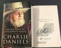Charlie Daniels signed Book Never Look at the Empty Seats A Memoir 1st Printing
