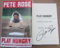 Pete Rose signed Book Play Hungry 1st Print Baseball Reds Hit King