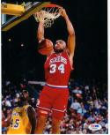 Charles Barkley Philadelphia 76ers signed 8x10 Dunking Photo PSA/DNA autographed