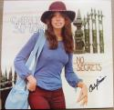 Carly Simon signed LP Album Cover No Secrets BAS Beckett auto