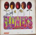 Keith Richards signed Rolling Stones LP Album Cover Flowers BAS Beckett auto