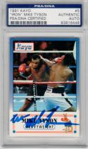 Mike Tyson signed 1991 Kayo Boxing Prototype Rookie card PSA/DNA signed Iron