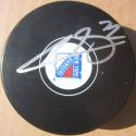 Filip Chytil signed Rangers Hockey Puck Beckett BAS Authentic auto
