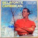 Harry Belafonte King of Calypso signed Album Sings the Caribbean PSA/DNA autographed