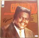 Fats Domino signed LP Album Cover Stompin' PSA/DNA auto