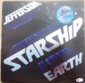 Grace Slick signed Jefferson Starship LP Album Cover Earth Beckett BAS Authentic Auto