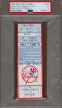 Derek Jeter Yankees 6/8/95 Game Ticket Stub 1st Career Triple RARE PSA 5 Slabbed