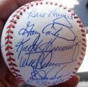 1986 Mets team signed Baseball Ball 33 Auto Beckett BAS Authentic Gary Carter