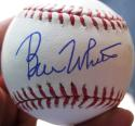 Bill White Cardinals NL President single signed MLB Ball Baseball STEINER auto