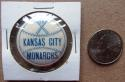 Kansas City Monarchs Negro Leagues Baseball Team Celluloid Team Pin 1940's