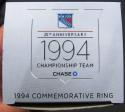 1994 New York Rangers Stanley Cup Champions 25th Anniv Replica Ring SGA 2/8/19