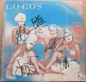 The Go-Gos 5x signed LP Album Cover Beauty and the Beat BAS Beckett