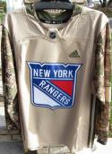 New York Rangers Veterans Day Authentic Jersey Size 52 Adidas NWT Fight Strap