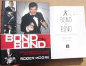 Roger Moore Signed Autographed Book Bond on Bond 1st Print Beckett BAS