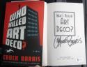 Chuck Barris Gong Show signed book Who Killed Art Deco BAS Beckett