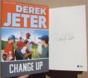 Derek Jeter Yankees signed Book Change Up 1st Print BAS Beckett auto