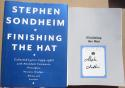 Stephen Sondheim signed Book Finishing the Hat 1st Printing Composer