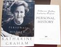 Katherine Graham signed book Personal History Pulitzer Prize Winner Watergate