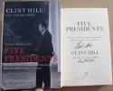 Clint Hill signed book Five Presidents Eisenhower JFK Nixon Secret Service