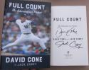 David Cone signed Book Full Count Mets Yankees 1st Print Cy Young