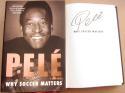 Pele signed book Why Soccer Matters Brazil Soccer GOAT 1st Print