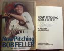 Bob Feller signed Book Now Pitching Indians HOF Legend 1st Print Cy Young