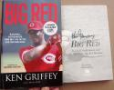 Ken Griffey signed Book Now Pitching Big Red Machine 1st Print