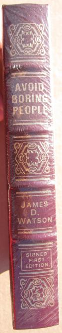 James Watson signed Easton Press Book Avoid Boring People DNA Discoverer