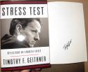 Tim Geithner Treasury Secretary signed Book Stress Test Financial Crisis 1st Print