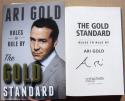 Ari Gold Jeremy Piven signed book Gold Standard 1st Printing Entourage HBO