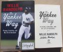 Willie Randolph signed Book The Yankee Way 1st Print Yankees Captain