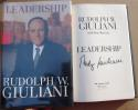 Rudy Giuliani signed book Leadership New York City Mayor 1st Print